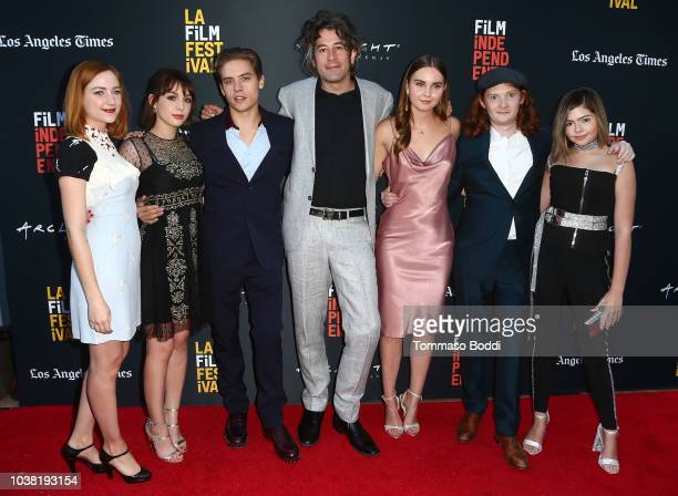 Actress Haley Ramm actor/writer/executive producer Hannah Marks actor Dylan Sprouse director Benjamin Kasulke and actors Liana Liberato Luke Spencer...