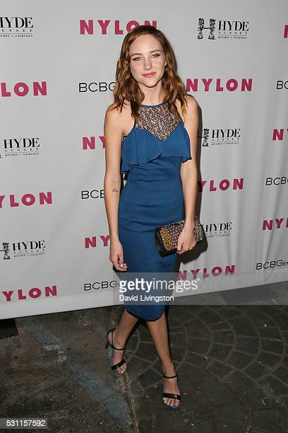 Actress Haley Ramm arrives at NYLON and BCBGeneration's Annual Young Hollywood May Issue Event at HYDE Sunset Kitchen Cocktails on May 12 2016 in...