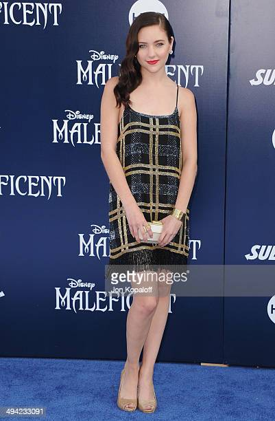 Actress Haley Ramm arrives at the Los Angeles Premiere 'Maleficent' at the El Capitan Theatre on May 28 2014 in Hollywood California