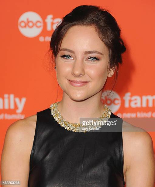 Actress Haley Ramm arrives the Disney|ABC Television Group 2014 Television Critics Association Summer Press Tour at The Beverly Hilton Hotel on July...