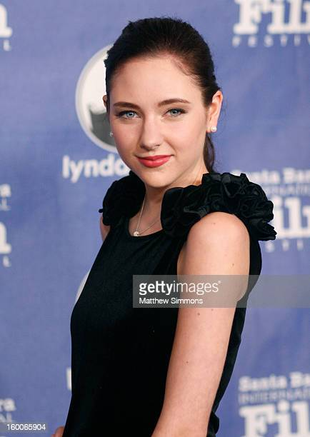 Actress Haley Ramm attends the opening night screening of 'Disconnect' at the28th Santa Barbara International Film Festival on January 24 2013 in...