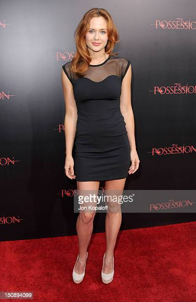 Actress Haley Strode arrives at the Los Angeles premiere of The Possession held at ArcLight Cinemas on August 28 2012 in Hollywood California