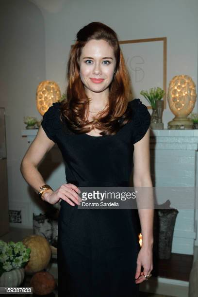 Actress Haley Strode attends a cocktail party celebrating 2013 Golden Globe nominee Julianne Moore hosted by LoveGold at Chateau Marmont on January...
