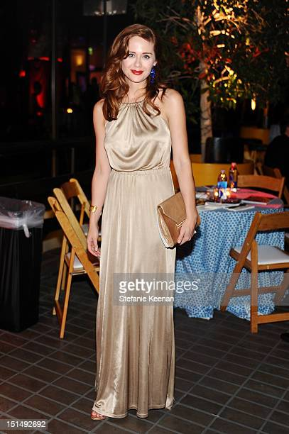 Actress Haley Strode attends the after party for Macy's Passport Presents: Glamorama - 30th Anniversary in Los Angeles held at The Orpheum Theatre on...