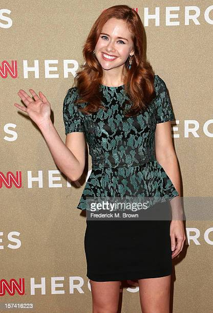 Actress Haley Strode attends the CNN Heroes An All Star Tribute at The Shrine Auditorium on December 2 2012 in Los Angeles California