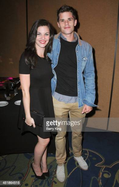Actress Haley Webb and actor Max Carver attend the 20th Century Fox Home Entertainment and MTV Network Teen Wolf fan appreciation event on November...
