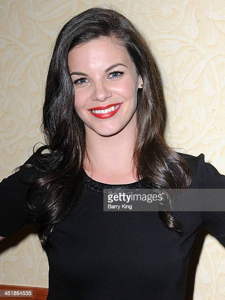 Actress Haley Webb attends the 20th Century Fox Home Entertainment and MTV Network Teen Wolf fan appreciation event on November 23 2013 at the...