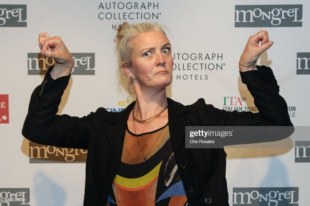Actress Halldora Geirharosdottir attends the 'Woman At War' Party hosted by Mongrel Media at Mongrel House on September 10, 2018 in Toronto, Canada.
