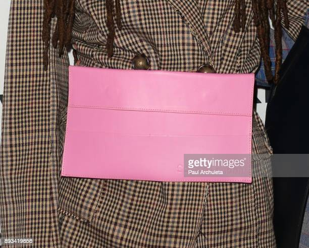 Actress Halle Bailey bag detail attends the premiere of ABC's 'Grownish' on December 13 2017 in Hollywood California