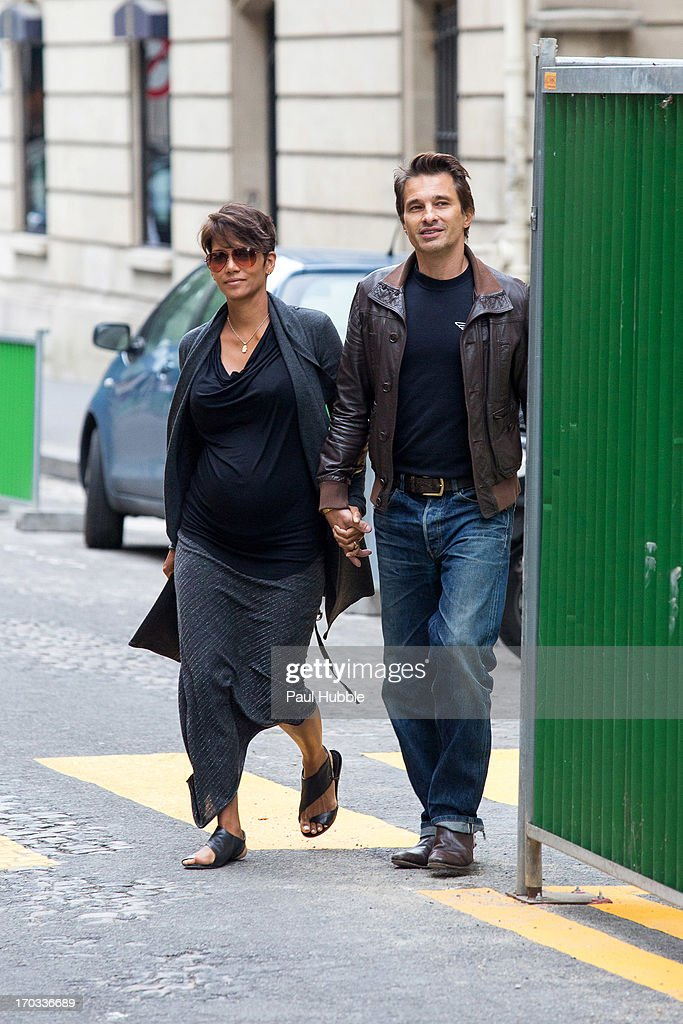 Halle Berry And Olivier Martinez Sighting In Paris : News Photo