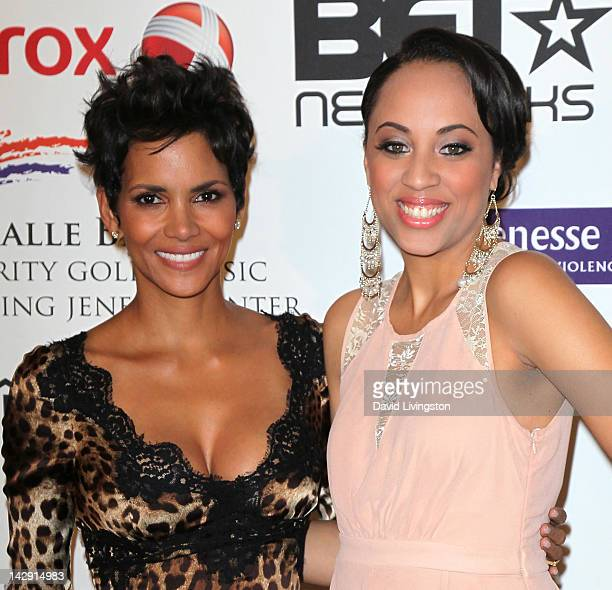 Actress Halle Berry and Fannie Lou Hamer Award recipient Schinal Walker attend the 2012 Jenesse Silver Rose Awards gala and auction at the Beverly...