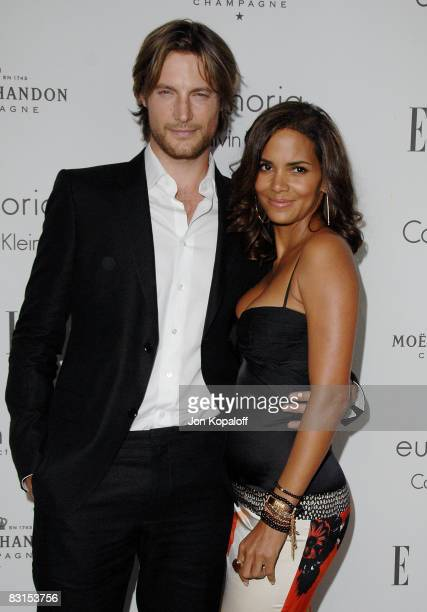 """Actress Halle Berry and model Gabriel Aubry arrive at """"Elle Magazine's 15th Annual Women in Hollywood Tribute"""" at the Four Seasons Hotel on October..."""