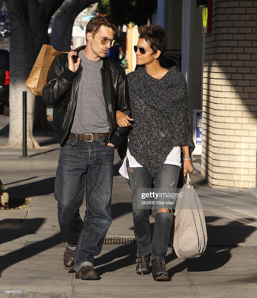 Actress Halle Berry and Olivier Martinez as seen on January 18, 2013 in Los Angeles, California.