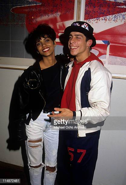 Actress Halle Berry and singer Danny Wood of New Kids On The Block circa 1989