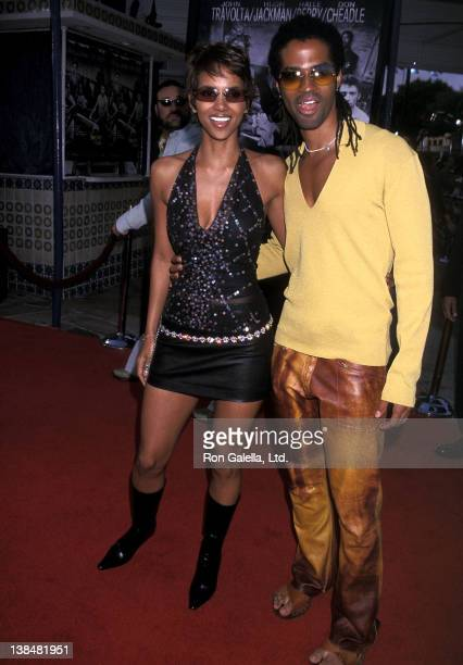 Actress Halle Berry and singer Eric Benet attend the Swordfish Westwood Premiere on June 4 2001 at Mann Village Theatre in Westwood California