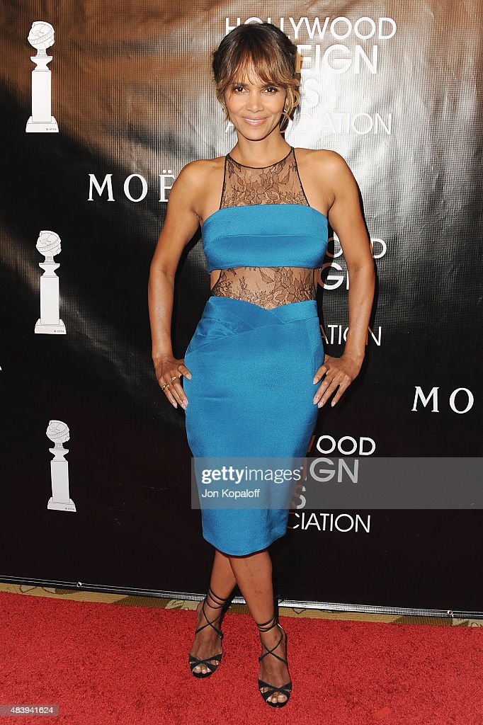 Actress Halle Berry arrives at Hollywood Foreign Press Association Hosts Annual Grants Banquet at the Beverly Wilshire Four Seasons Hotel on August 13, 2015 in Beverly Hills, California.