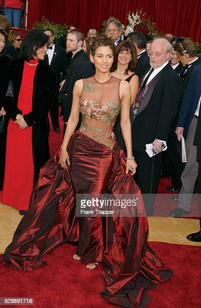 Actress Halle Berry arrives at the 2002 Academy Awards This photo appears on page 305 in Frank Trapper's RED CARPET book