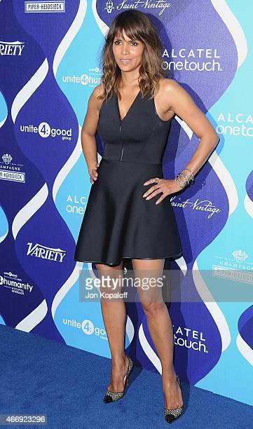 Actress Halle Berry arrives at the 2nd Annual Unite4:humanity Event at The Beverly Hilton Hotel on February 19, 2015 in Beverly Hills, California.