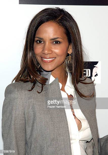 Actress Halle Berry arrives at the opening night of the new production of Wicked held at The Pantages Theatre on February 21 2006 in Hollywood...