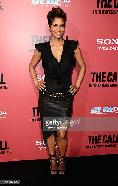 Actress Halle Berry arrives at the premiere Of Tri Star Pictures' The Call at ArcLight Cinemas on March 5 2013 in Hollywood California