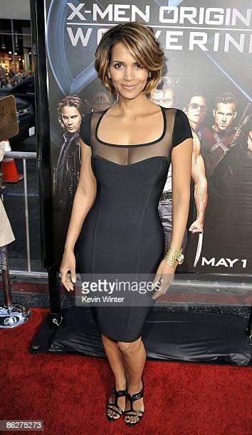 """Actress Halle Berry arrives at the screening 20th Century Fox's """"X-Men Origins: Wolverine"""" at the Chinese Theater on April 28, 2009 in Los Angeles,..."""