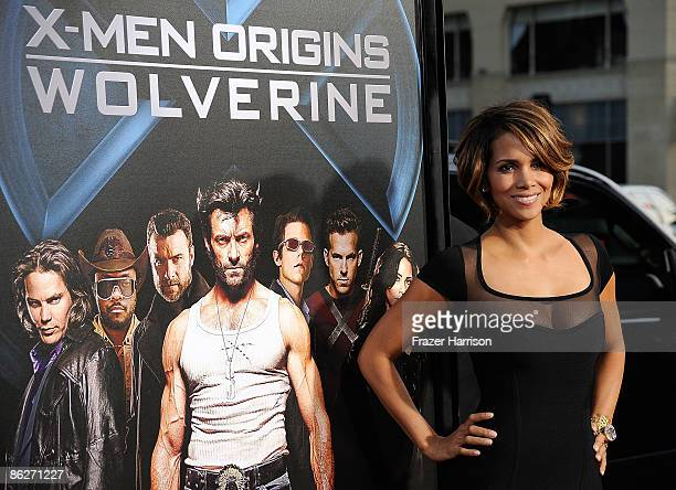 """Actress Halle Berry arrives at the Screening Of 20th Century Fox's """"X-Men Origins: Wolverine"""" on April 28, 2009 at the Gruman's Manns Chinese Theater..."""