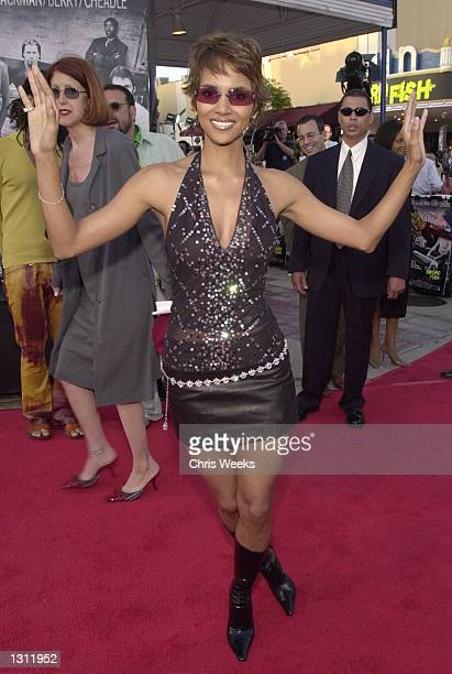 Actress Halle Berry arrives at the world premiere of Warner Bros'' Swordfish June 4 2001 at the Mann Village Theatre in Westwood CA