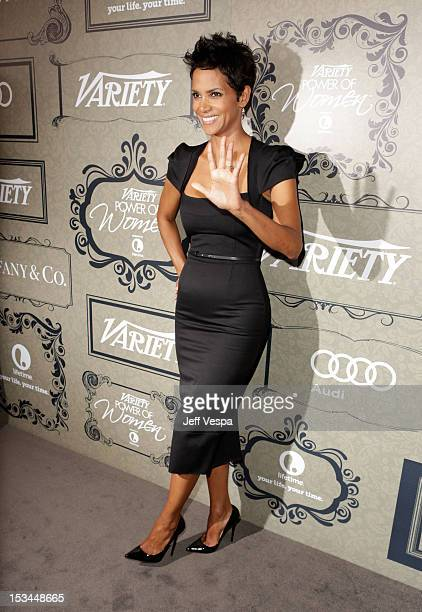 Actress Halle Berry arrives at Variety's 4th Annual Power of Women Event Presented by Lifetime at the Beverly Wilshire Four Seasons Hotel on October...
