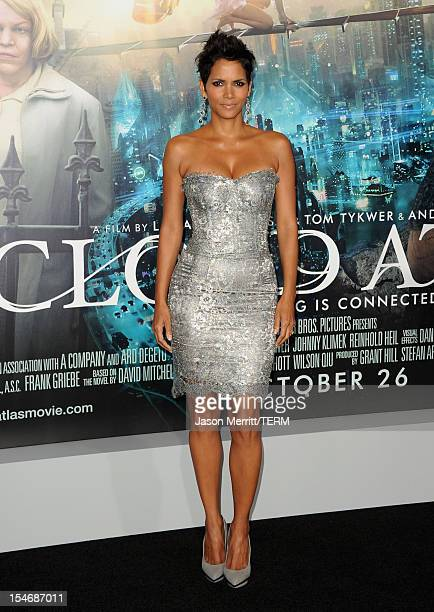 Actress Halle Berry arrives at Warner Bros Pictures' Cloud Atlas premiere at Grauman's Chinese Theatre on October 24 2012 in Hollywood California