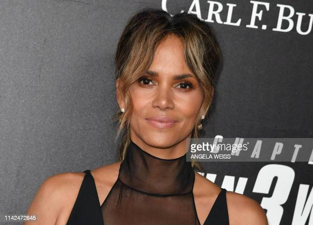 "Actress Halle Berry arrives for the world premiere of ""John Wick: Chapter 3 - Parabellum"" at One Hanson in New York on May 9, 2019."