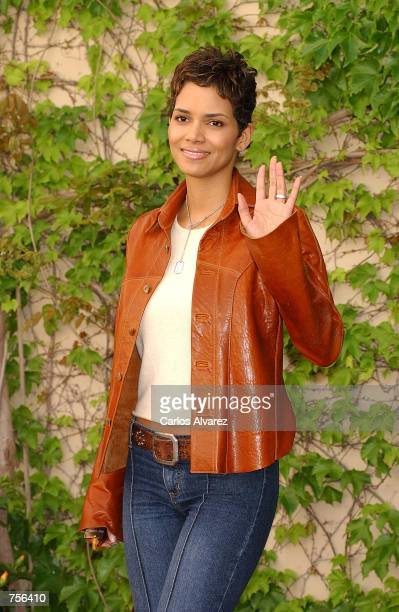 Actress Halle Berry attends a photocall for the next James Bond film 'Die Another Day' April 3 2002 in Cadiz Spain The movie agent 007's 20th outing...