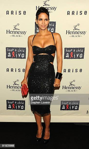 Actress Halle Berry attends Keep A Child Alive�s 6th Annual Black Ball at Hammerstein Ballroom on October 15 2009 in New York City