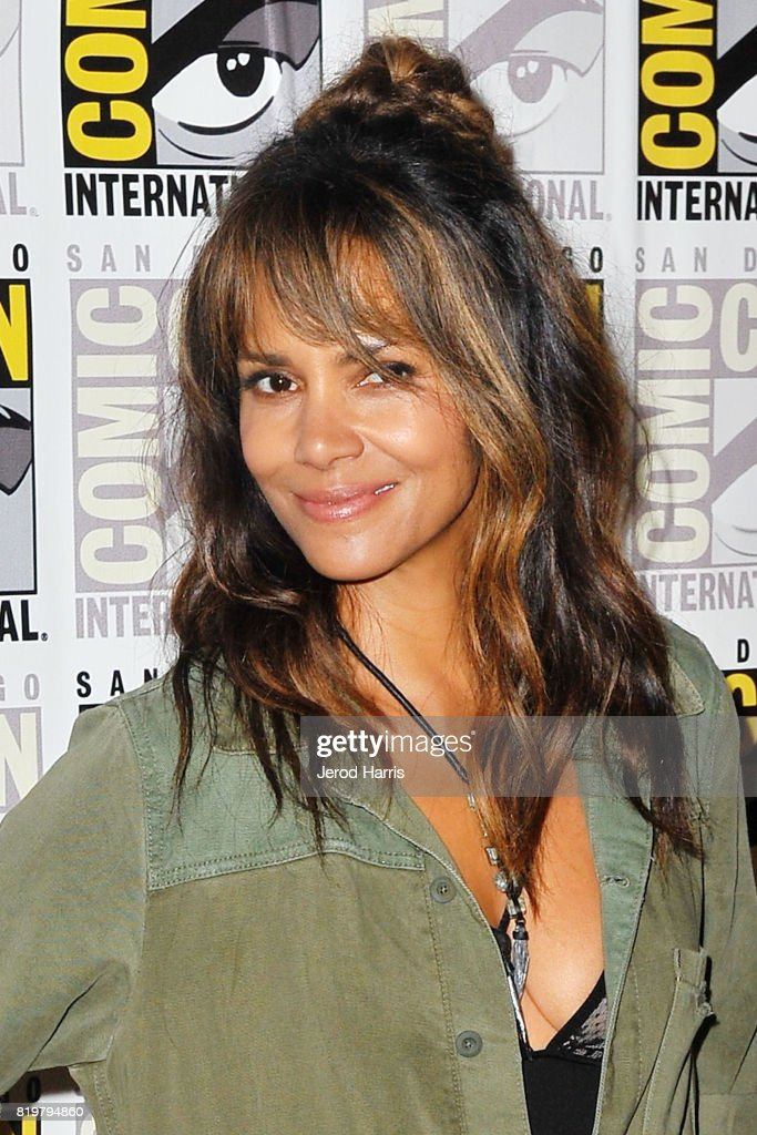 Actress Halle Berry attends 'Kingsman: The Secret Service' press line at Comic-Con International 2017 - Day 1 on July 20, 2017 in San Diego, California.