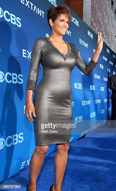 Actress Halle Berry attends Premiere Of CBS Television Studios Amblin Television's Extant at California Science Center on June 16 2014 in Los Angeles...