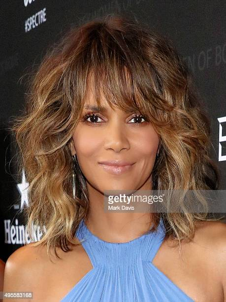 Actress Halle Berry attends 'Spectre' The Black Women of Bond Tribute at California African American Museum on November 3 2015 in Los Angeles...