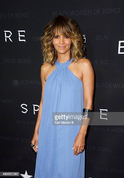 Actress Halle Berry attends SpectreThe Black Women Of Bond Tribute at California African American Museum on November 3 2015 in Los Angeles California