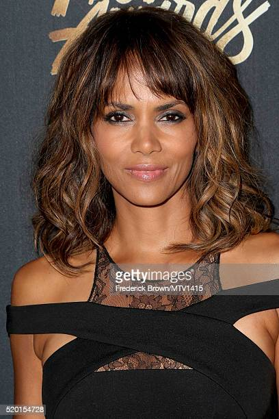Actress Halle Berry attends the 2016 MTV Movie Awards at Warner Bros Studios on April 9 2016 in Burbank California MTV Movie Awards airs April 10...