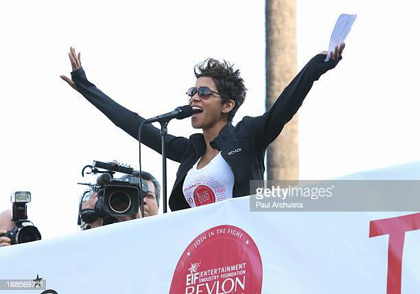 Actress Halle Berry attends the 20th annual EIF Revlon Run/Walk For Women at the Los Angeles Memorial Coliseum on May 11 2013 in Los Angeles...