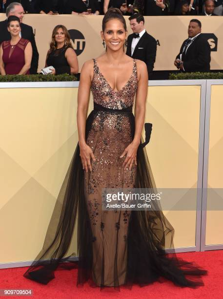 Actress Halle Berry attends the 24th Annual Screen Actors Guild Awards at The Shrine Auditorium on January 21 2018 in Los Angeles California