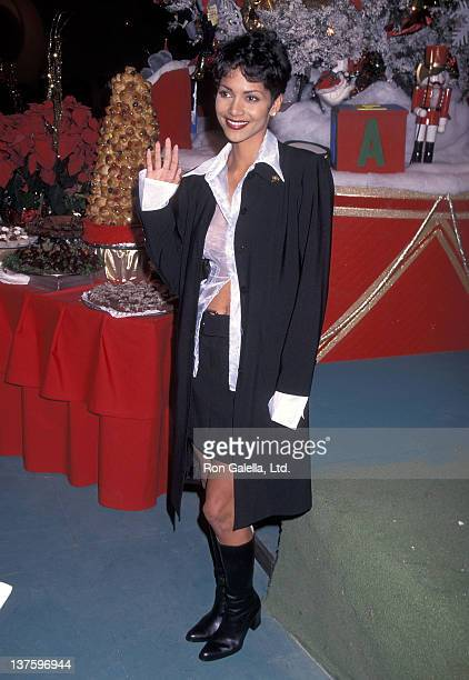 Actress Halle Berry attends the 64th Annual Hollywood Christmas Parade on December 3 1995 at KTLA Studios in Hollywood California