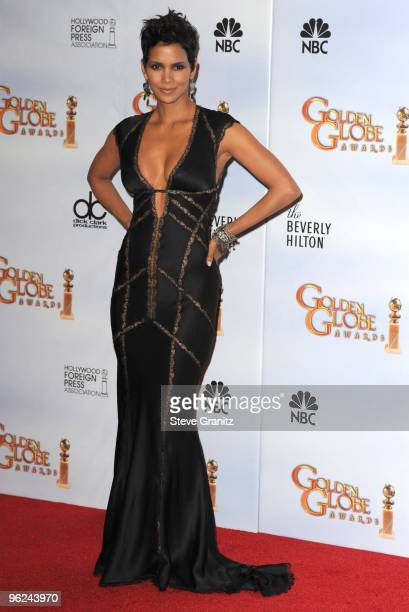 Actress Halle Berry attends the 67th Annual Golden Globes Awards at The Beverly Hilton Hotel on January 17 2010 in Beverly Hills California