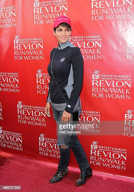 Actress Halle Berry attends the EIF Revlon Run/Walk For Women at Los Angeles Memorial Coliseum on May 10 2014 in Los Angeles California