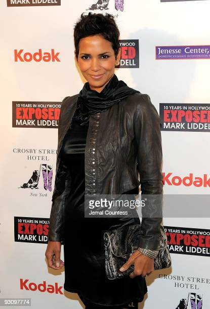 Actress Halle Berry attends the Mark Liddell debut book party for 'Exposed 10 Years in Hollywood' hosted by Halle Berry at the Crosby Street Hotel on...