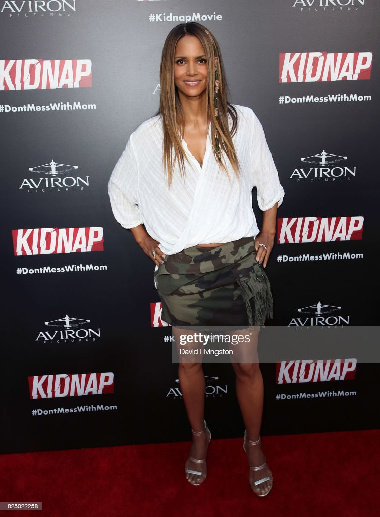 Actress Halle Berry attends the premiere of Aviron Pictures' 'Kidnap' at ArcLight Hollywood on July 31, 2017 in Hollywood, California.