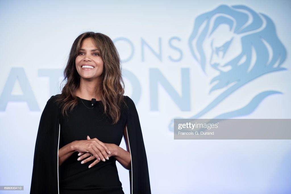 Actress Halle Berry attends the 'Tapping New Media To Connect with Fans and Their Passions' Seminar hosted by Interpublic during the Cannes Lions Festival on June 20, 2017 in Cannes, France.