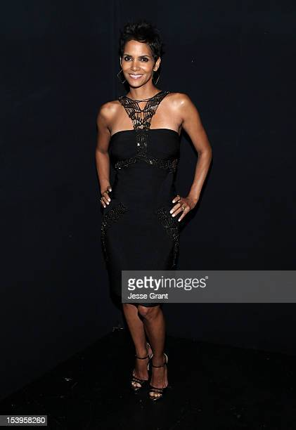 Actress Halle Berry attends 'We Will Always Love You A GRAMMY Salute to Whitney Houston' at Nokia Theatre LA Live on October 11 2012 in Los Angeles...