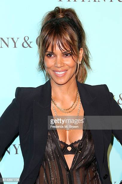 Actress Halle Berry celebrates the unveiling of the renovated Tiffinay Co Beverly Hills store at Tiffany Co on October 13 2016 in Beverly Hills...