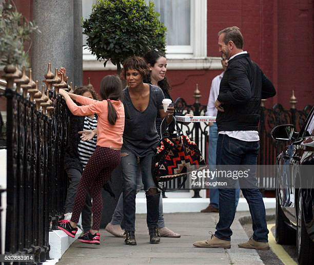 Actress Halle Berry is pictured arriving back at a London hotel on May 12 2016 in London England