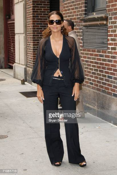 Actress Halle Berry leaves the Ed Sullivan Theater after a taping of the Late Show with David Letterman on May 25 2006 in New York City