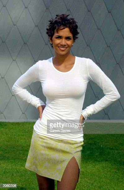 Actress Halle Berry poses for photographers at a photocall for her new film Swordfish in Canary Wharf London on June 25 2001